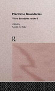 Foto Cover di Maritime Boundaries, Ebook inglese di  edito da Taylor and Francis