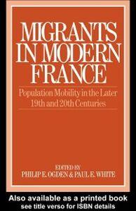 Ebook in inglese Migrants in Modern France