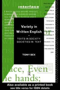 Ebook in inglese Variety in Written English Bex, Tony