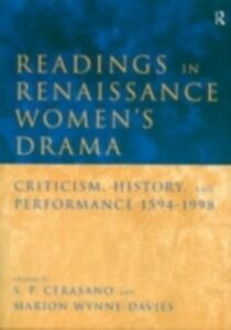 Ebook in inglese Readings in Renaissance Women's Drama