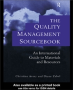 Ebook in inglese Quality Management Sourcebook Avery, Christine , Zabel, Diane