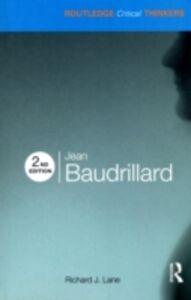 Foto Cover di Jean Baudrillard, Ebook inglese di Richard J. Lane, edito da Taylor and Francis