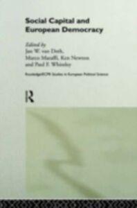 Foto Cover di Social Capital and European Democracy, Ebook inglese di  edito da Taylor and Francis