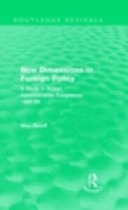 Ebook in inglese New Dimensions in Foreign Policy (Routledge Revivals) Beloff, Max