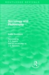 Sociology and Philosophy (Routledge Revivals)