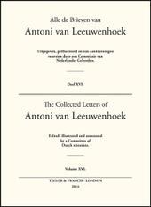 Collected Letters of Antoni Van Leeuwenhoek - Volume 16