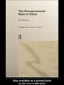 Ebook in inglese The Entrepreneurial State in China Duckett, Jane