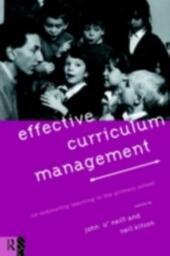 Effective Curriculum Management