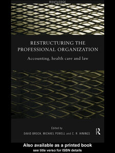 Ebook in inglese Restructuring the Professional Organization