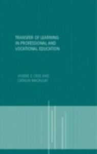 Ebook in inglese Transfer of Learning in Professional and Vocational Education -, -