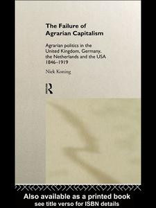 Ebook in inglese The Failure of Agrarian Capitalism Koning, Niek