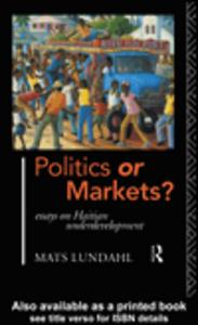 Ebook in inglese Politics or Markets? Lundahl, Mats