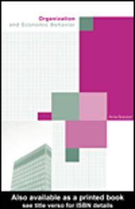 Foto Cover di Organization and Economic Behaviour, Ebook inglese di Anna Grandori, edito da
