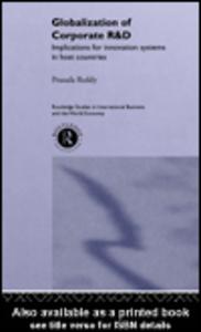 Ebook in inglese The Globalization of Corporate R & D Reddy, Prasada