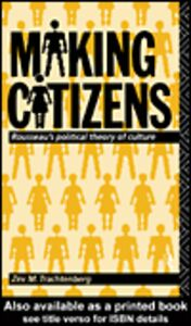 Foto Cover di Making Citizens, Ebook inglese di Zev M. Trachtenberg, edito da