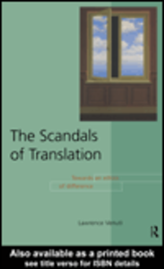 Ebook in inglese The Scandals of Translation Venuti, Lawrence