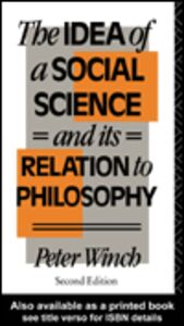 Ebook in inglese The Idea of a Social Science Winch, Peter