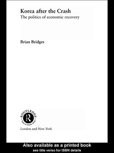 Ebook in inglese Korea after the Crash Bridges, Brian