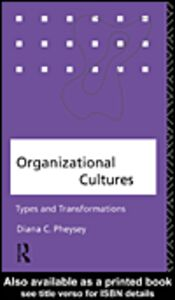 Foto Cover di Organizational Cultures, Ebook inglese di Diana C. Pheysey, edito da