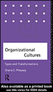 Ebook in inglese Organizational Cultures Pheysey, Diana C.