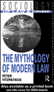 Ebook in inglese The Mythology of Modern Law Fitzpatrick, Peter