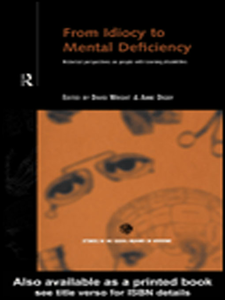 Ebook in inglese From Idiocy to Mental Deficiency