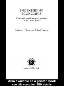 Foto Cover di Engendering Economics, Ebook inglese di Zohreh Emami,Paulette Olson, edito da