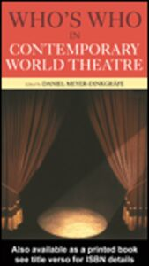 Ebook in inglese Who's Who in Contemporary World Theatre
