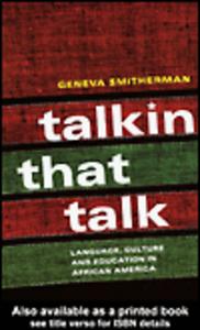 Ebook in inglese Talkin that Talk Smitherman, Geneva
