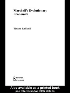Foto Cover di Marshall's Evolutionary Economics, Ebook inglese di Tiziano Raffaelli, edito da