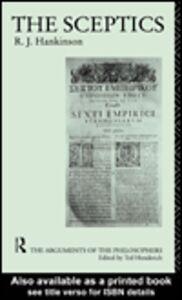 Ebook in inglese The Sceptics Hankinson, R.J.