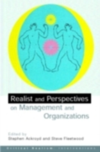 Ebook in inglese Realist Perspectives on Management and Organisations -, -