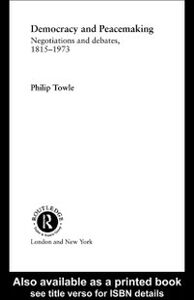 Ebook in inglese Democracy and Peace Making Towle, Philip