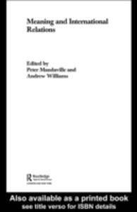 Ebook in inglese Meaning and International Relations -, -