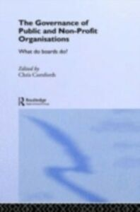 Ebook in inglese Governance of Public and Non-Profit Organizations -, -