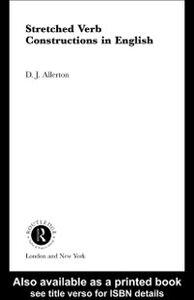 Foto Cover di Stretched Verb Constructions in English, Ebook inglese di D. J. Allerton, edito da Taylor and Francis