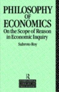 Ebook in inglese Philosophy of Economics Roy, Subroto