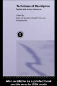 Ebook in inglese Techniques of Description Fox, Gwyneth , Hoey, Michael , Sinclair, John M.