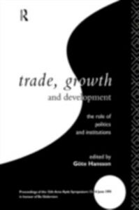 Foto Cover di Trade, Growth and Development, Ebook inglese di  edito da Taylor and Francis
