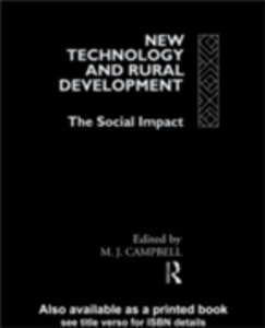 Ebook in inglese New Technology and Rural Development -, -