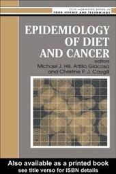 Epidemiology Of Diet And Cancer