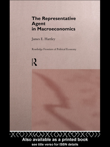 Ebook in inglese The Representative Agent in Macroeconomics Hartley, James E.