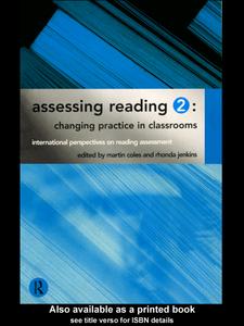 Ebook in inglese Assessing Reading 2 Coles, Martin , Jenkins, Rhonda