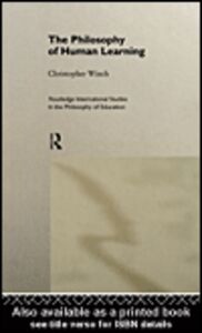 Ebook in inglese The Philosophy of Human Learning Winch, Christopher