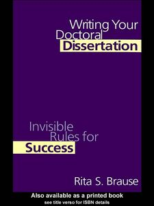Foto Cover di Writing Your Doctoral Dissertation, Ebook inglese di Rita S. Brause, edito da