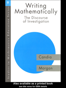 Ebook in inglese Writing Mathematically Morgan, Candia