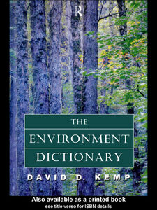 Ebook in inglese The Environment Dictionary Kemp, David