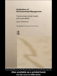 Ebook in inglese Institutions in Environmental Management Hukkinen, Janne