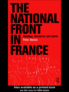 Ebook in inglese The National Front in France Davies, Peter