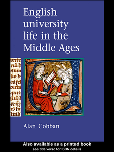 Ebook in inglese English University Life in the Middle Ages Cobban, Alan